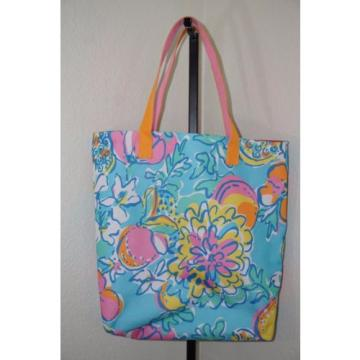 Lilly Pulitzer Estee Lauder Bright Floral Double Strap Shopper Beach Tote Bag