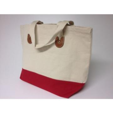 Canvas Handbag Beach Bag Tote Bag Book Bag JUST IN TIME FOR SCHOOL! Large RED