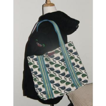 Bungalow 360 Übër Cute Whale Beach Bag! Cute Durable Washable Eco Happy!!