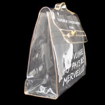 Auth HERMES Kelly Beach Hand Bag SOUVENIR DE L'EXPOSITION Vinyl 1997 RK10085