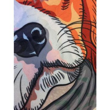 NWOT Fashion Shopper Beach Tote Spaniel Dog Bag Zipper Rope Handles