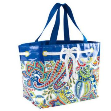 NWT VERA BRADLEY MARINA PAISLEY LARGE MARKET TOTE -EcoShopping or beach tote bag