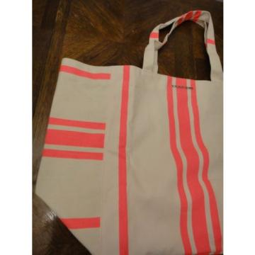 New Sealed Victoria's Secret Tote Large PINK Striped SWIM BEACH Tote Pool BAG
