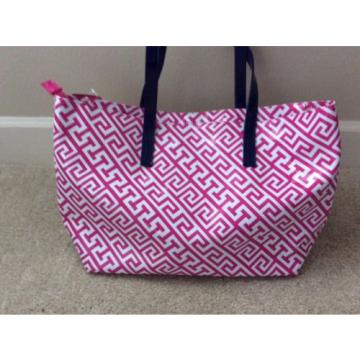 MACBETH COLLECTION Greek Key Chevron Nautical Beach Tote Shoulder Bag Purse