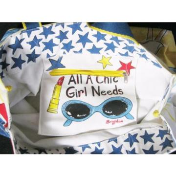 "Cute Colorful Brighton ""Chic Ahoy"" Canvas Tote Beach Bag Purse"