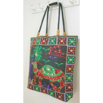 Hippie Handmade Ethnic CAMEL Shoulder Tote Beach Bag Boho Embroidered Handbag