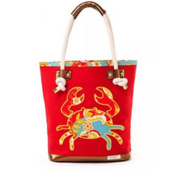 Beautiful Spartina 449 Fiddler's Cove Crab Beach Bag- NWT