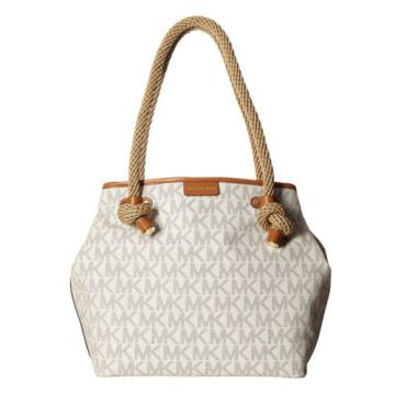 Michael Kors Maritime Medium Beach Tote Bag Vanilla