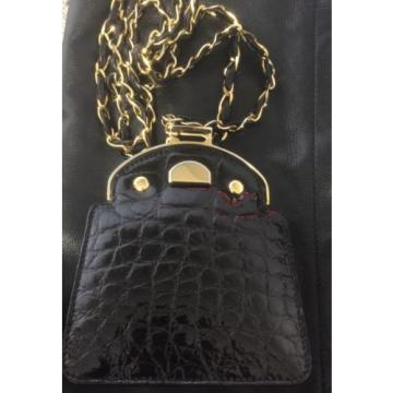 SALE!!!!  !! Stunning authentic black alligator bag by Giorgio's of Palm Beach