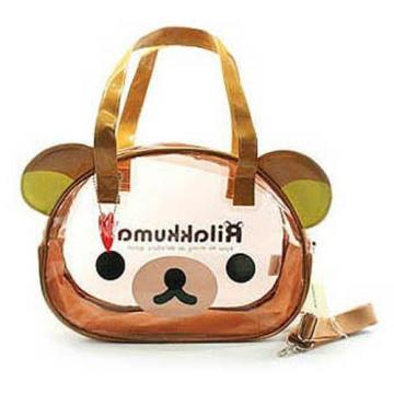 Rilakkuma Face Beach Bag Swim Swimming Cross Tote Bag Girls Child Fashion Cute