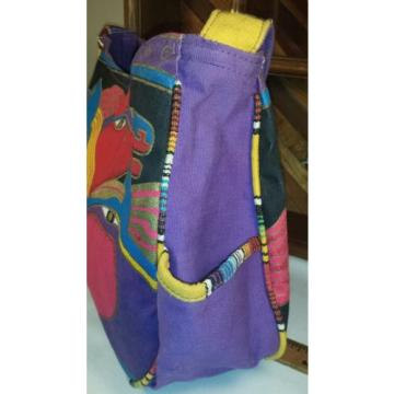 Laurel Burch Horses Wild Stallions Beach Tote Shoulder Bag Purse
