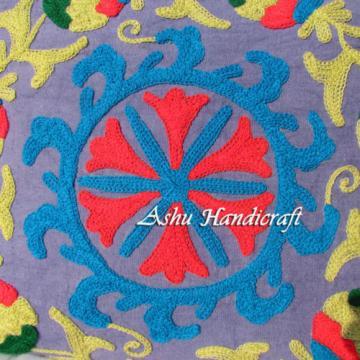 Indian Cotton Embroidery Suzani Handbag Woman Tote Shoulder Bag Beach Boho Bag v