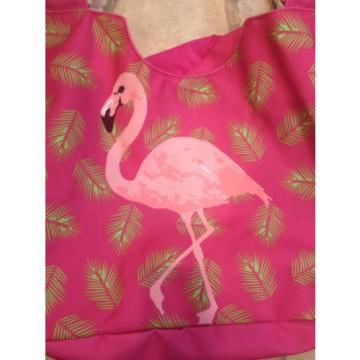 Adorable Flamingo Pink Beach Bag Tote