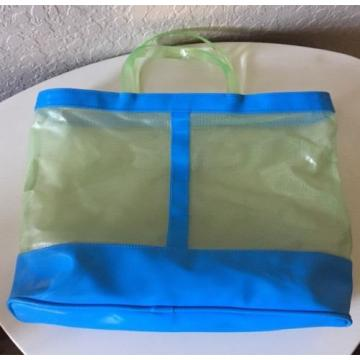 Clinique Beauty Bag Tote Blue Green Clear Beach Tote
