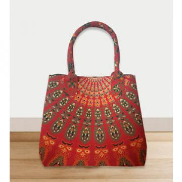 hippie shoulder purse red color bohemian mandala shopping bag beach bag