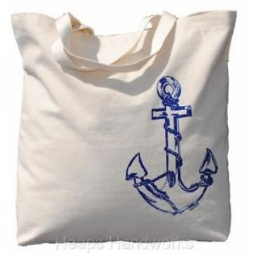 Tote Bags for Women - Beach Travel Market Shopping Nautical Canvas - Anchor NEW
