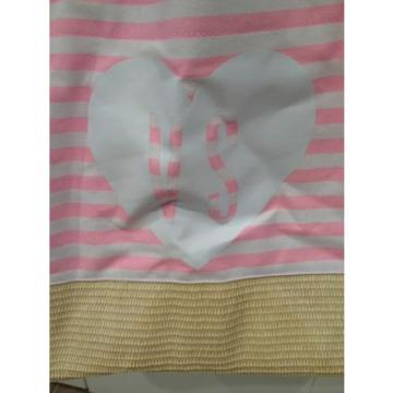 Victoria's Secret Pink Striped Straw Beach Bag Tote