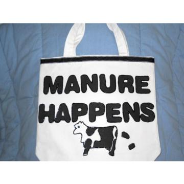 "Tote Bag, Purse, Carry-All, Beach Bag ""Manure Happens"" and Cows New Handmade"