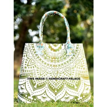 Indian Cotton Beach Bag Shopping Jhola Large Tote Messenger Handmade Mandala Art