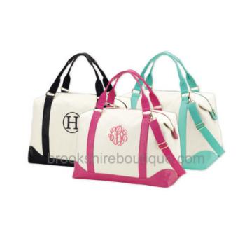 PERSONALIZED MONOGRAM WEEKEND CANVAS TRAVEL BEACH DUFFLE BAG DIAPER TOTE BAG