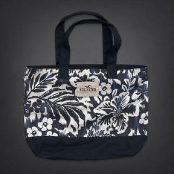 NWT Hollister Floral Navy blue tote bag beach tote
