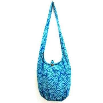 CROSSBODY BAG SLING SHOULDER GYPSY SCHOOL HOBO BLUE BEACH PURSE SPIRAL TRAVEL