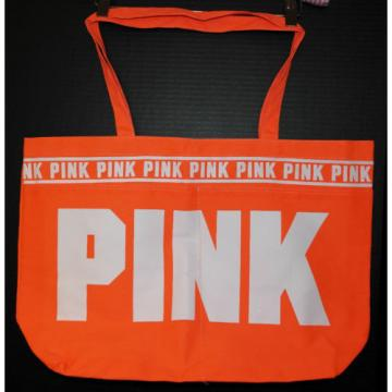 Victoria's Secret PINK Shopper / Tote / Beach Bag *New w/o Tag* Orange Logo