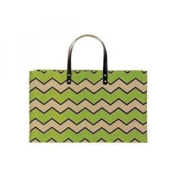 Green Chevron Jute Shopper Beach Tote Bag ~ Great Gift Idea!
