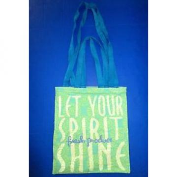 FRESH PRODUCE Green LET YOUR SPIRIT SHINE Beach TOTE Backpack Bag New