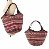 Women TRIBAL Beach Fashion Handbag Shoulder CANVAS Tote Shopping Bag With Beads