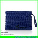LDLF-074 2017 new designer straw handbags light blue women raffia clutch
