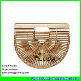 LDBB-006 2017 new handmade hollow straw handbag natural bamboo straw clutch