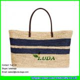 LDLF-012 crochet raffia bag women straw tobago raffia large tote bag