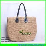LDLF-017 natural straw crochet beach  raffia bag