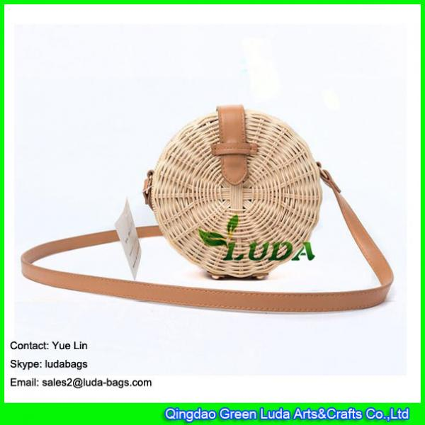 LDTT-027 2018 new handbag  lady casual summer round straw  rattan beach bags #1 image