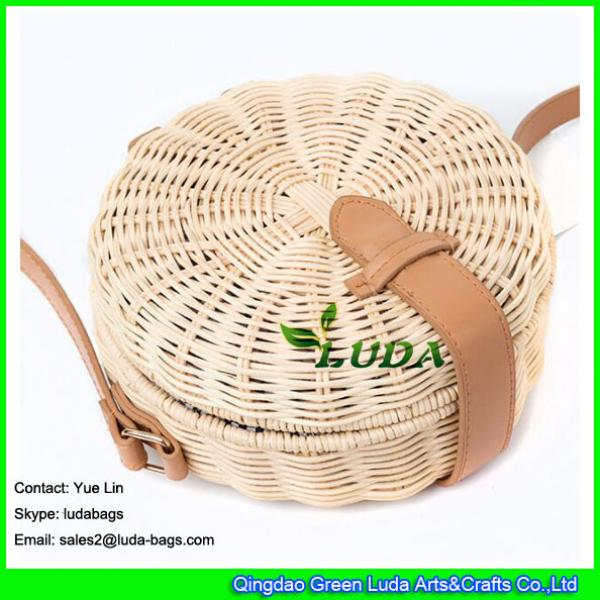 LDTT-027 2018 new handbag  lady casual summer round straw  rattan beach bags #2 image