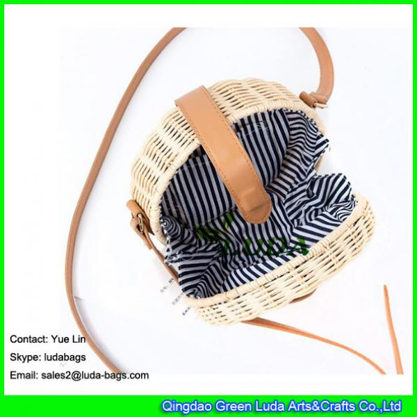 LDTT-027 2018 new handbag  lady casual summer round straw  rattan beach bags #3 image