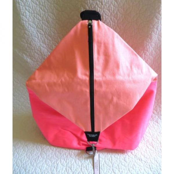 New Victoria's Secret PINK Coral BACKPACK Knapsack Book Bag Gym Travel Beach #1 image