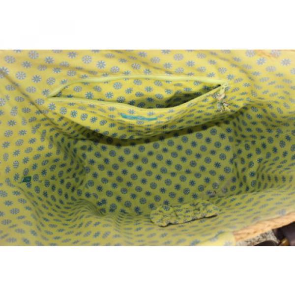 Womens Vera Bradley Authentic Large Straw Peacock Beach Bag Tote Handbag Purse #4 image