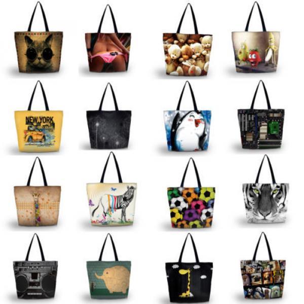 Ladies Womens Large Foldable Tote Shoulder Shopping School Bag Handbag Beach Bag #2 image