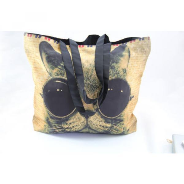 Ladies Womens Large Foldable Tote Shoulder Shopping School Bag Handbag Beach Bag #3 image