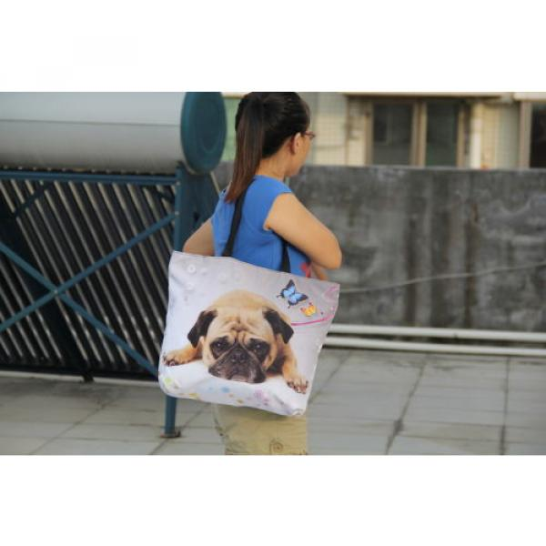 Ladies Womens Large Foldable Tote Shoulder Shopping School Bag Handbag Beach Bag #4 image