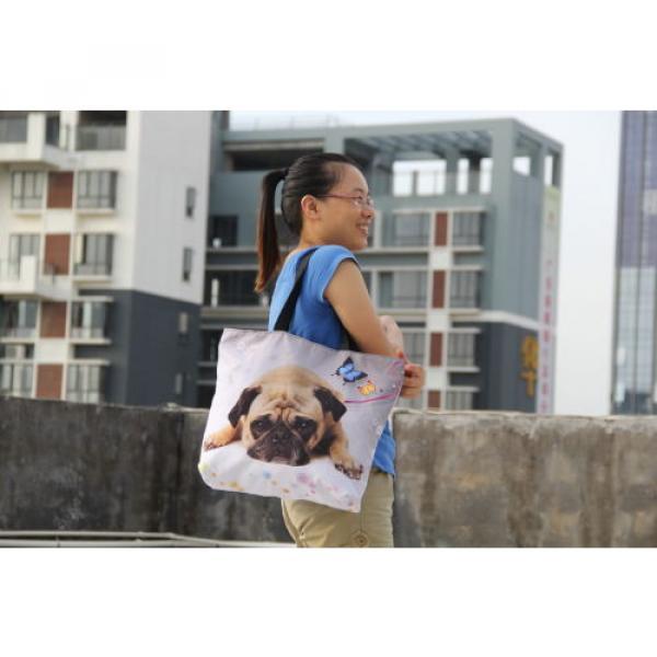 Ladies Womens Large Foldable Tote Shoulder Shopping School Bag Handbag Beach Bag #5 image