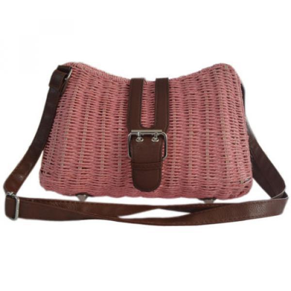 Womens Summer Beach Straw Shopping Shoulder Messenger Cross Body Tote Purse Bag #2 image