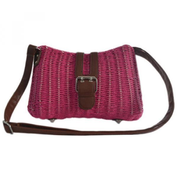 Womens Summer Beach Straw Shopping Shoulder Messenger Cross Body Tote Purse Bag #3 image