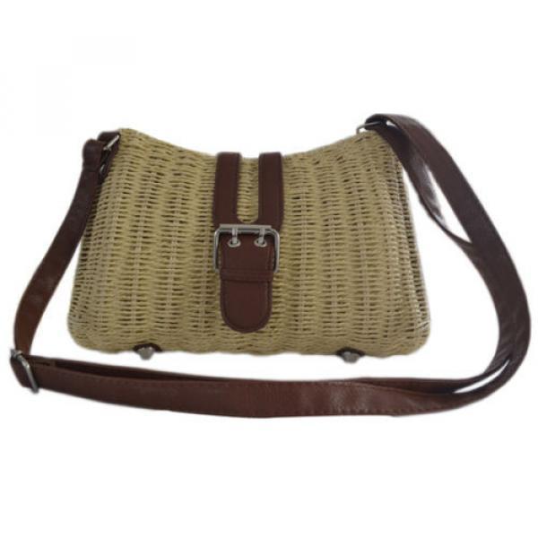 Womens Summer Beach Straw Shopping Shoulder Messenger Cross Body Tote Purse Bag #4 image