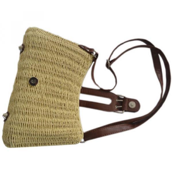 Womens Summer Beach Straw Shopping Shoulder Messenger Cross Body Tote Purse Bag #5 image