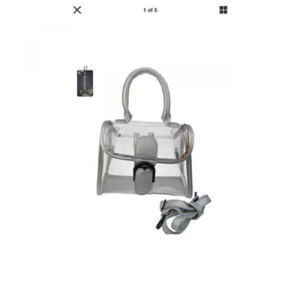 Donalworld Womens Mini Clear Bag Transparent Beach Silver Handbag #1 image