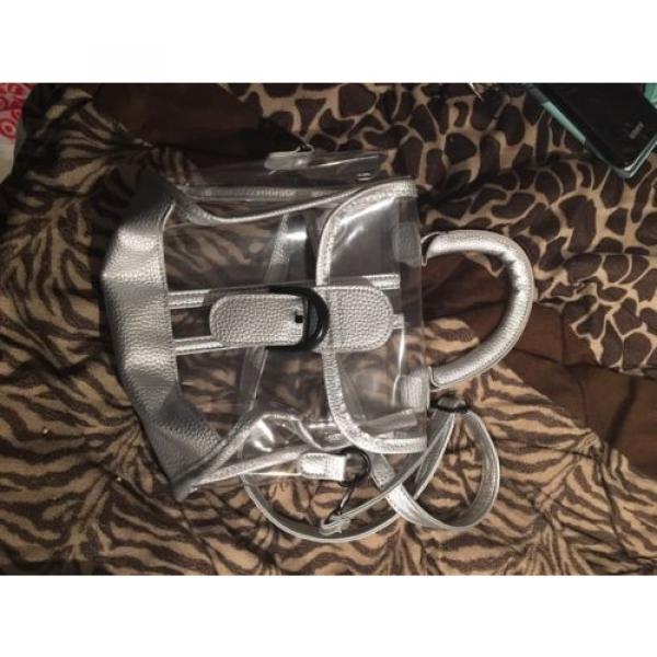 Donalworld Womens Mini Clear Bag Transparent Beach Silver Handbag #2 image