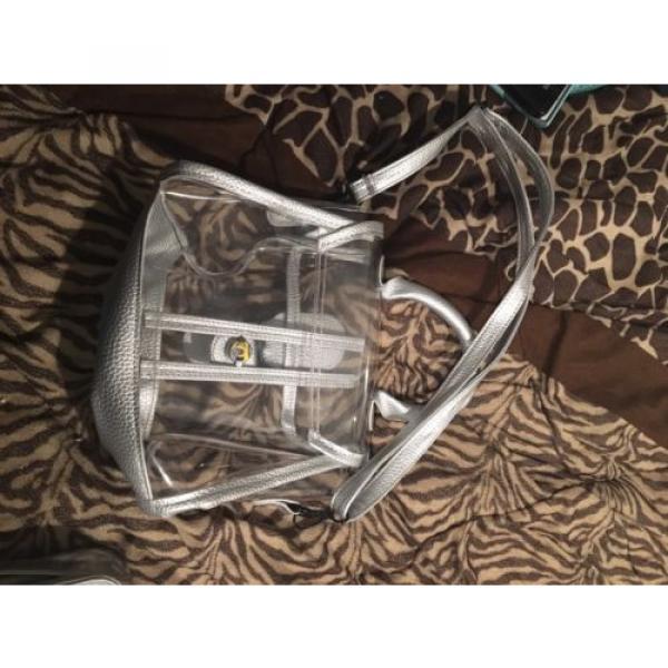 Donalworld Womens Mini Clear Bag Transparent Beach Silver Handbag #3 image